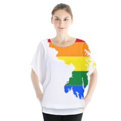 Lgbt Flag Map Of Maryland  Blouse