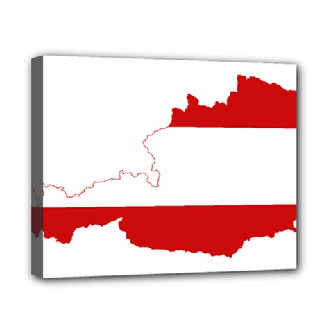 Flag Map Of Austria Canvas 10  x 8