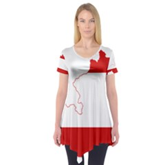 Flag Map Of Austria Short Sleeve Tunic
