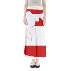 Flag Map Of Austria Maxi Skirts
