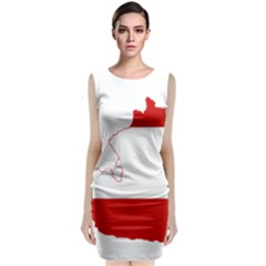 Flag Map Of Austria Classic Sleeveless Midi Dress