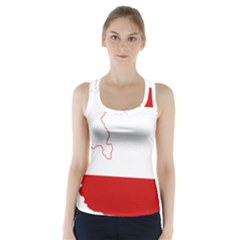 Flag Map Of Austria Racer Back Sports Top