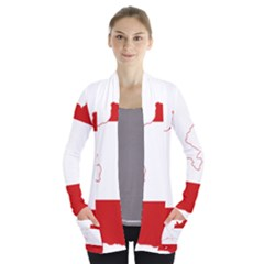 Flag Map Of Austria Women s Open Front Pockets Cardigan(p194)