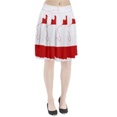 Flag Map Of Austria Pleated Skirt