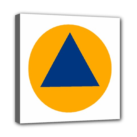 International Sign Of Civil Defense Roundel Mini Canvas 8  x 8