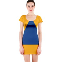International Sign Of Civil Defense Roundel Short Sleeve Bodycon Dress