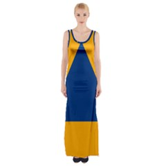 International Sign Of Civil Defense Roundel Maxi Thigh Split Dress