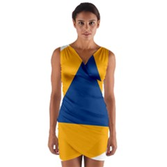 International Sign Of Civil Defense Roundel Wrap Front Bodycon Dress