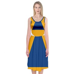 International Sign Of Civil Defense Roundel Midi Sleeveless Dress