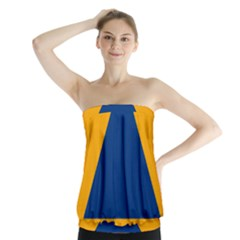 International Sign Of Civil Defense Roundel Strapless Top