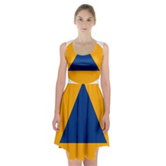 International Sign Of Civil Defense Roundel Racerback Midi Dress