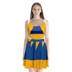 International Sign Of Civil Defense Roundel Split Back Mini Dress
