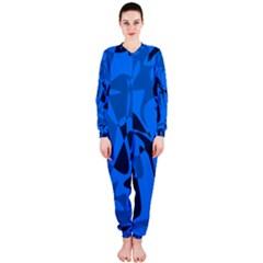 Blue pattern OnePiece Jumpsuit (Ladies)