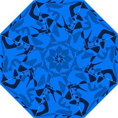 Blue pattern Hook Handle Umbrellas (Large)