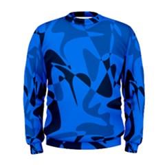 Blue pattern Men s Sweatshirt