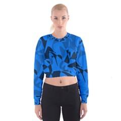 Blue pattern Women s Cropped Sweatshirt