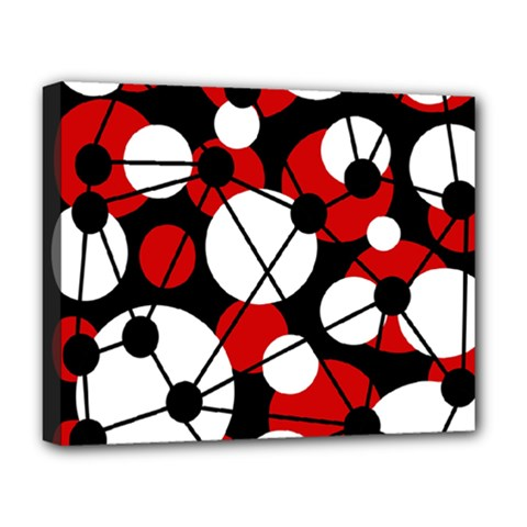 Red, black and white pattern Deluxe Canvas 20  x 16