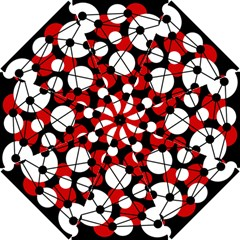 Red, black and white pattern Hook Handle Umbrellas (Small)