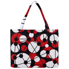 Red, black and white pattern Mini Tote Bag