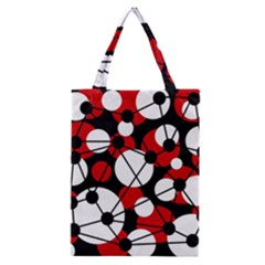 Red, black and white pattern Classic Tote Bag