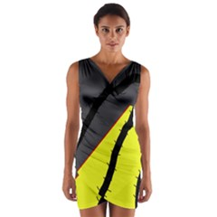 Spider Wrap Front Bodycon Dress