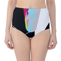 Colorful abstraction High-Waist Bikini Bottoms