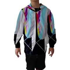 Colorful Abstraction Hooded Wind Breaker (kids)
