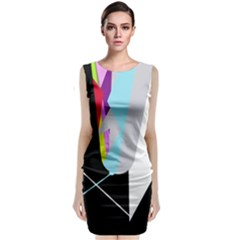 Colorful abstraction Classic Sleeveless Midi Dress