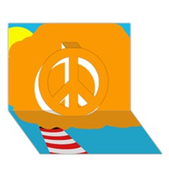 Chimney Peace Sign 3D Greeting Card (7x5)