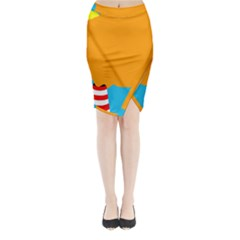 Chimney Midi Wrap Pencil Skirt