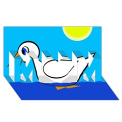 White duck MOM 3D Greeting Card (8x4)