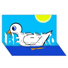 White duck BEST BRO 3D Greeting Card (8x4)