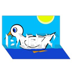 White duck PARTY 3D Greeting Card (8x4)