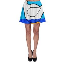 White duck Skater Skirt