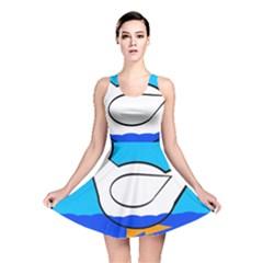 White duck Reversible Skater Dress