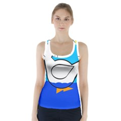White Duck Racer Back Sports Top