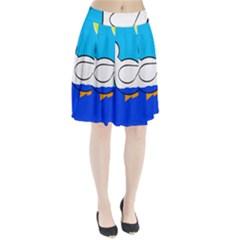 White duck Pleated Skirt
