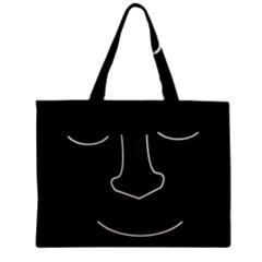Sleeping face Zipper Mini Tote Bag