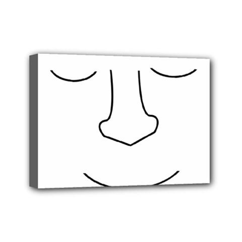 Sleeping face Mini Canvas 7  x 5