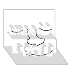 Sleeping face Miss You 3D Greeting Card (7x5)