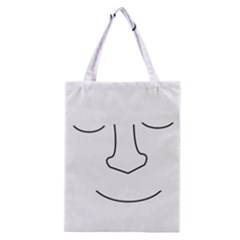 Sleeping face Classic Tote Bag