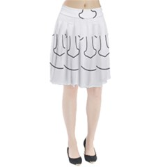 Sleeping face Pleated Skirt