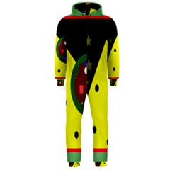 Abstract design Hooded Jumpsuit (Men)