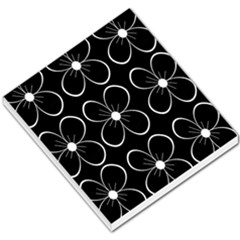 Black and white floral pattern Small Memo Pads