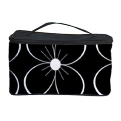 Black and white floral pattern Cosmetic Storage Case
