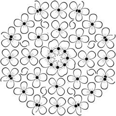 White flowers pattern Folding Umbrellas