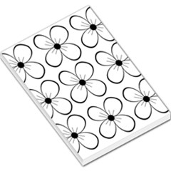 White flowers pattern Large Memo Pads