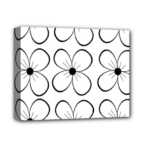 White flowers pattern Deluxe Canvas 14  x 11