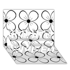 White flowers pattern YOU ARE INVITED 3D Greeting Card (7x5)