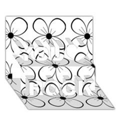White flowers pattern You Rock 3D Greeting Card (7x5)